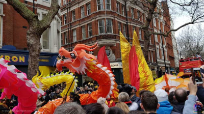 Various dragons take part in the parade