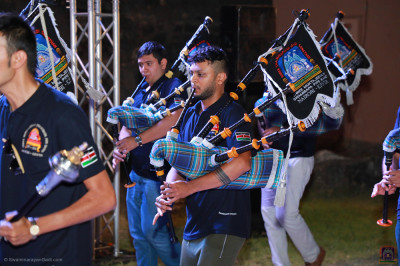 Shree Muktajeevan Swamibapa Pipeband present for rehearsals at Fort Jesus