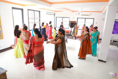 Devotees play raas to please Lord Swaminarayanbapa Swamibapa at Swamibapa Prathna Hall