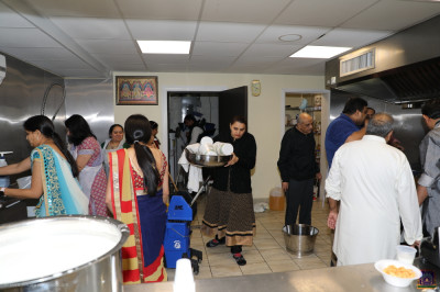 All hands are on deck in the kitchen, as final preparations are being made for the Shakotsav.