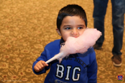 A child enjoys cotton candy