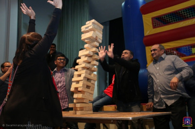 Discples play jenga