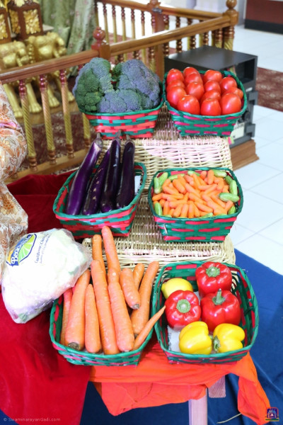 A display of vegetables on the Shakotsav occasion