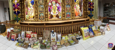 Food offerings made to Lord Swaminarayanbapa Swamibapa on the occasion of Uttrayan