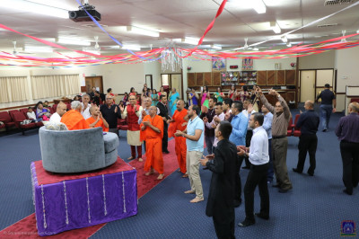 Sants and disciples rejoice as the raas concludes
