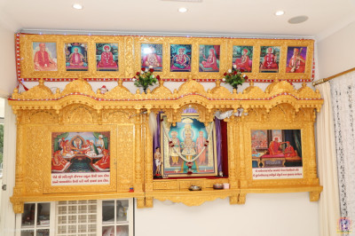 Divine darshan of the Lord at the old mandir at the home of a disciple