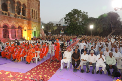 A special assembly was held in the grounds of Prag Mahal, the 19th-century palace located next to the Aina Mahal in Bhuj