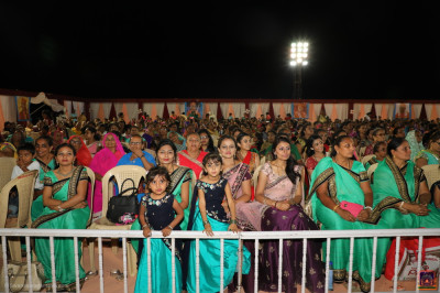 Thousands of disciples enjoy the grand celebrations
