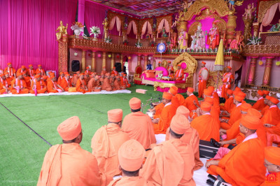 The names of whosoever has made any donation towards this Mahotsav - however large or small - has been noted in Lord Shree Swaminarayan's personal ledger