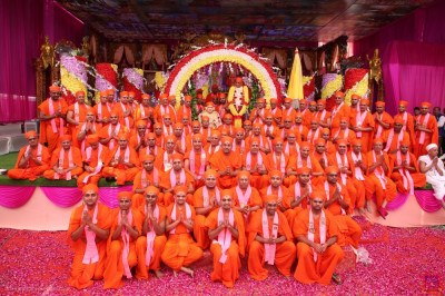 His Divine Holiness Acharya Swamishree Maharaj blesses all sants