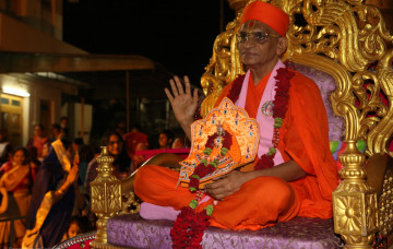 Acharya Swamishree Maharaj's Return to Maninagardham