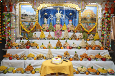 Divine darshan of the entire annakut