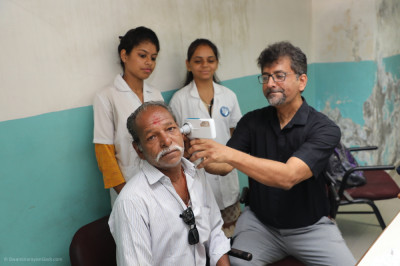 The doctor and his team offer ear and throat checking services to disciples