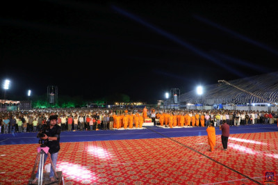 The huge ground is the venue for the outdoor open-air devotional concert