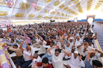 Thousands of disciples from around the world gather to enjoy the celebrations