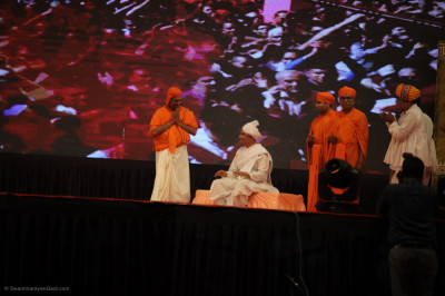 Disciples perform during the devotional drama to please the Lord