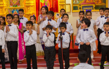 Swamibapa Gujarati School's young students recreate the joy of the Lord's manifestation