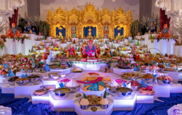 Annakut Darshan at Shree Swaminarayan Mandir Kingsbury