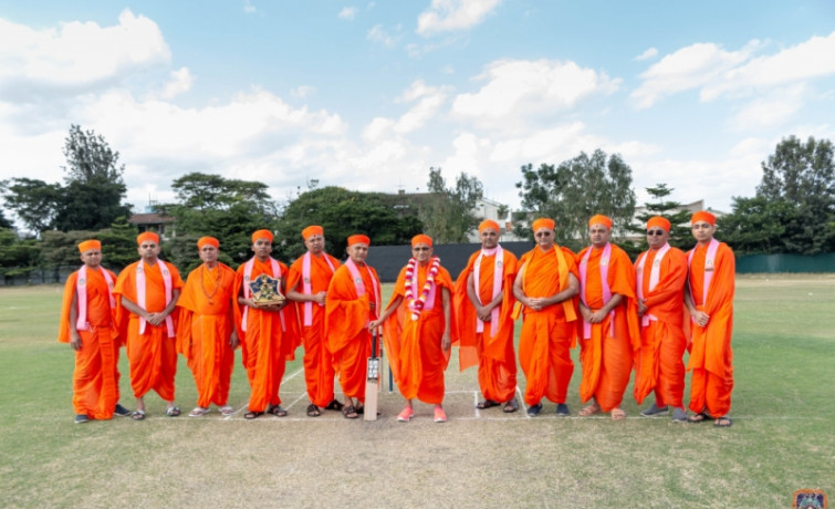 Acharya Swamishree Maharaj's Visit To The Jamhuri Cricket Ground 2019