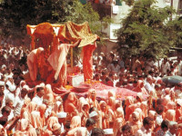 Jeevanpran Shree Muktajeevan Swamibapa's antardhan leela and cremation in a field in Godasar - which was to become the exact location of Smruti Mandir