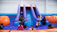 Swamibapa Gujarati Schools have a great time at Inflata Nation