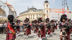 Shree Muktajeevan Swamibapa Pipe Band was invited to perform at the world renowned Sibiu International Theatre Festival